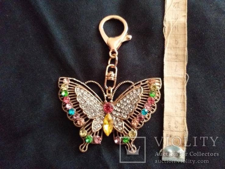Брелок бабочка с камнями, фото №3