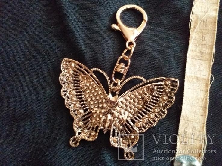 Брелок бабочка с камнями, фото №6