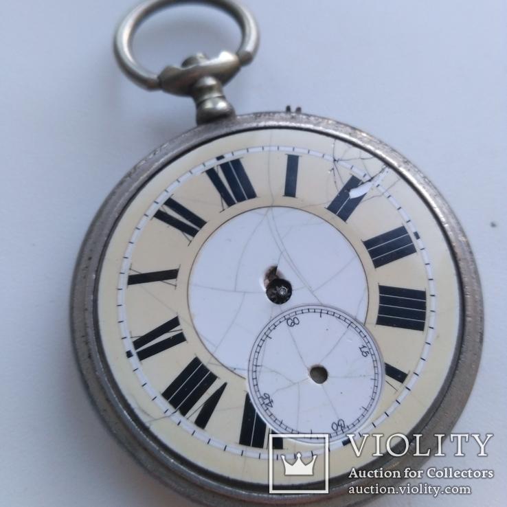 Швейцарские Старенькие Карманные часы, фото №3