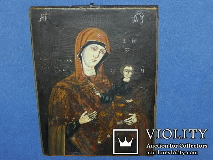 Смоленская присвятая богородица 28 на 21 товщ 1.9, фото №5