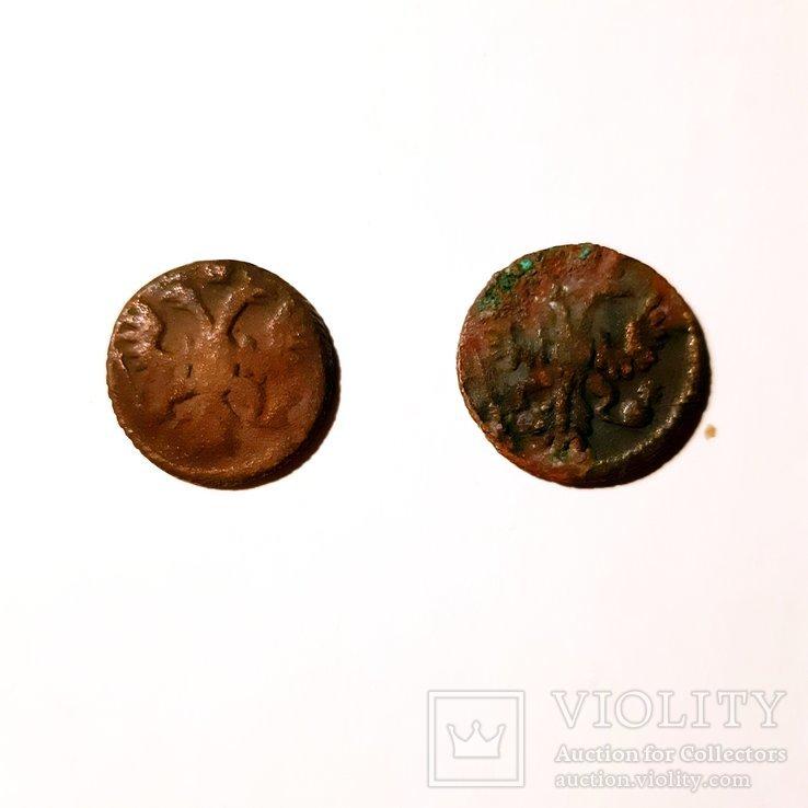 Монеты РИ ПОЛУШКИ 4 ШТ. С браком и разными разновидностями. См. Описание, фото №8