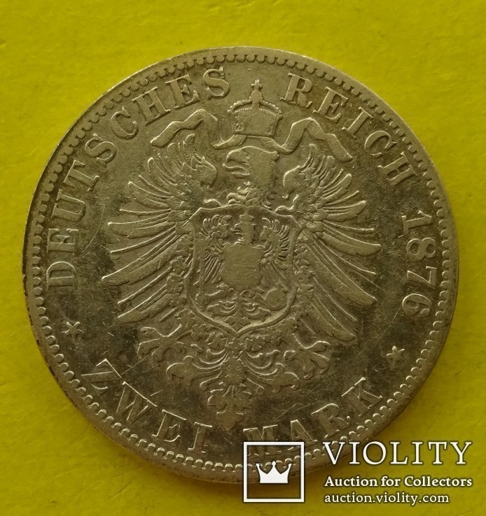2 марки, Пруссия, 1876 год., фото №3