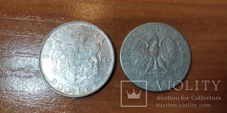 Серебряные монеты Польши и Румынии, фото №3