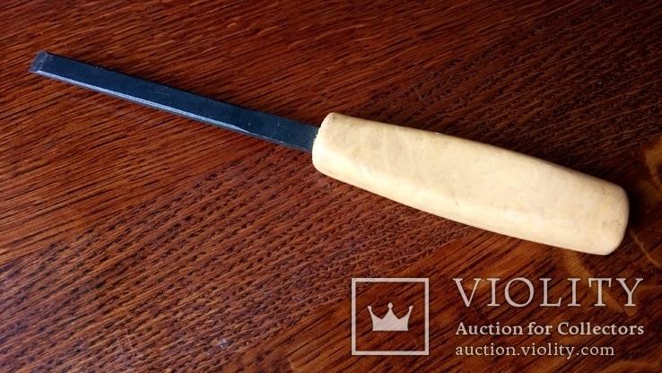 Стамеска советская 10 мм Пластмассовая ручка желтая, фото №2