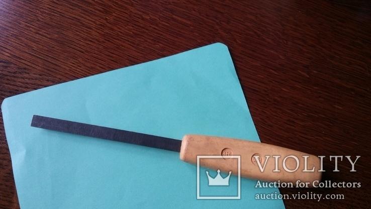 Стамеска советская 10 мм Пластмассовая ручка желтая, фото №3