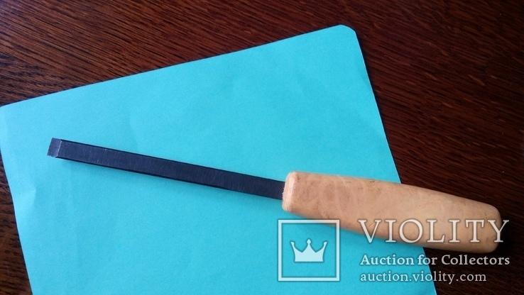 Стамеска советская 10 мм Пластмассовая ручка желтая, фото №4