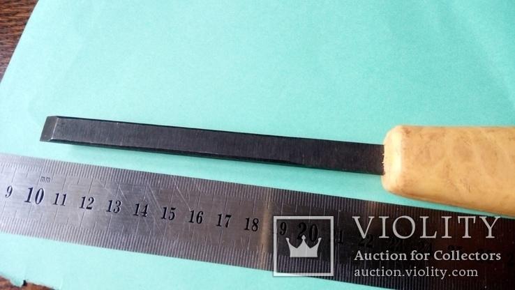 Стамеска советская 10 мм Пластмассовая ручка желтая, фото №5