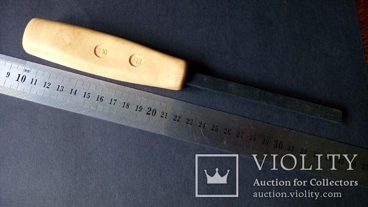 Стамеска советская 10 мм Пластмассовая ручка желтая, фото №10