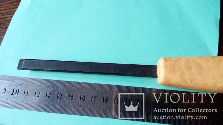 Стамеска советская 10 мм Пластмассовая ручка желтая, фото №12