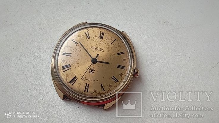 Часы Ракета большая (знак качества) позолота Au, фото №3