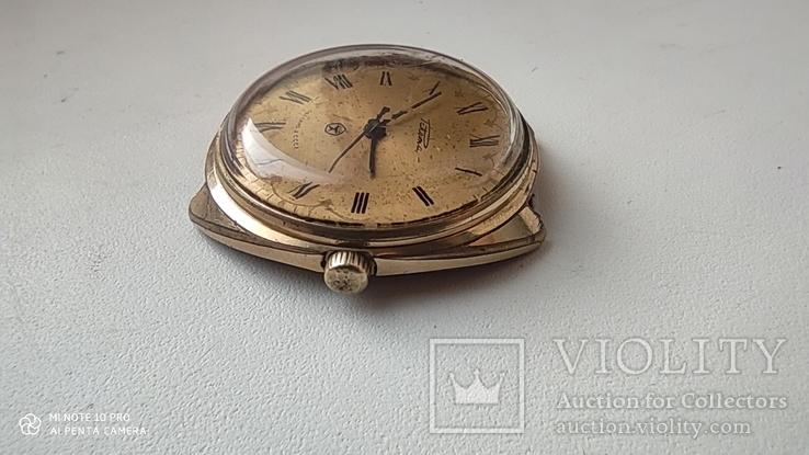 Часы Ракета большая (знак качества) позолота Au, фото №5