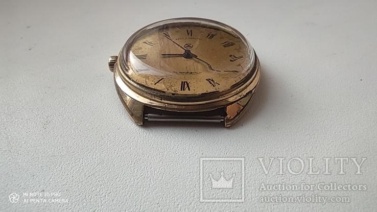 Часы Ракета большая (знак качества) позолота Au, фото №6