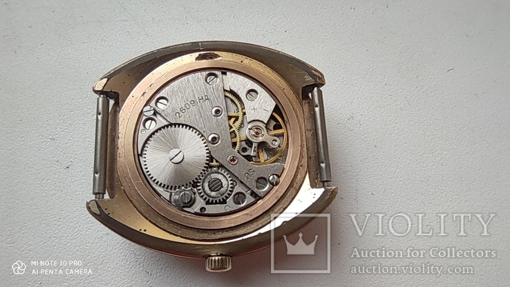 Часы Ракета большая (знак качества) позолота Au, фото №10