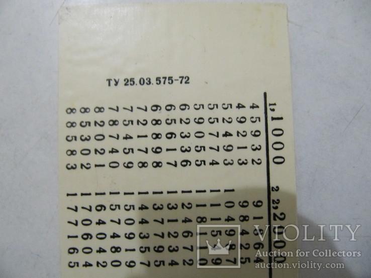 Вычислительная линейка на начисления зарплаты за отпуск СССР 1972 год с паспортом., фото №8