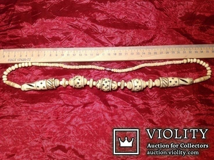 Ожерелье со сложной резьбой / кость /., фото №6