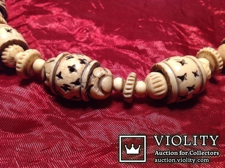 Ожерелье со сложной резьбой / кость /., фото №10