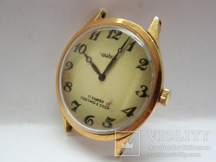 Часы Чайка позолота СССР Ау-10, фото №4