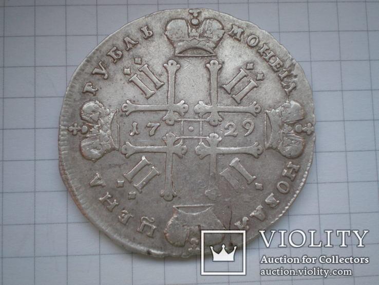 Рубль 1729 г., фото №4
