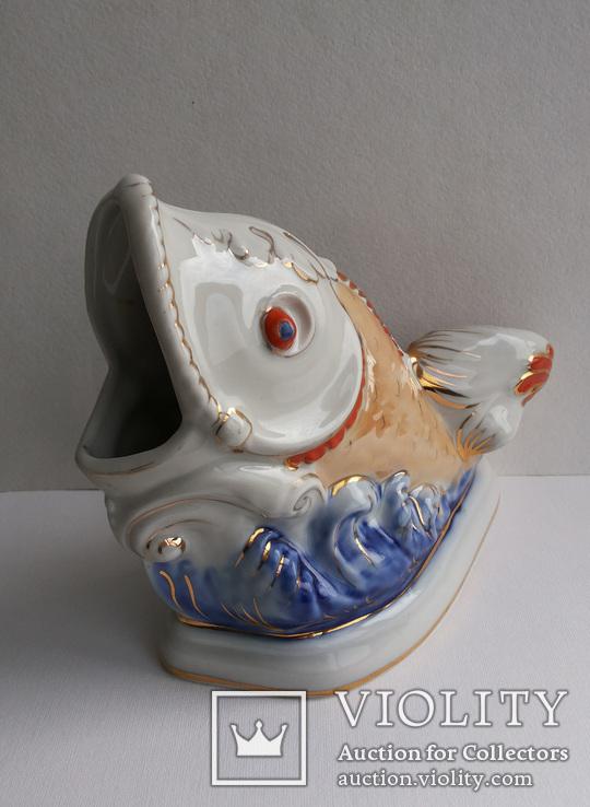 Салфетница Рыбка клеймо Коростень, фото №3