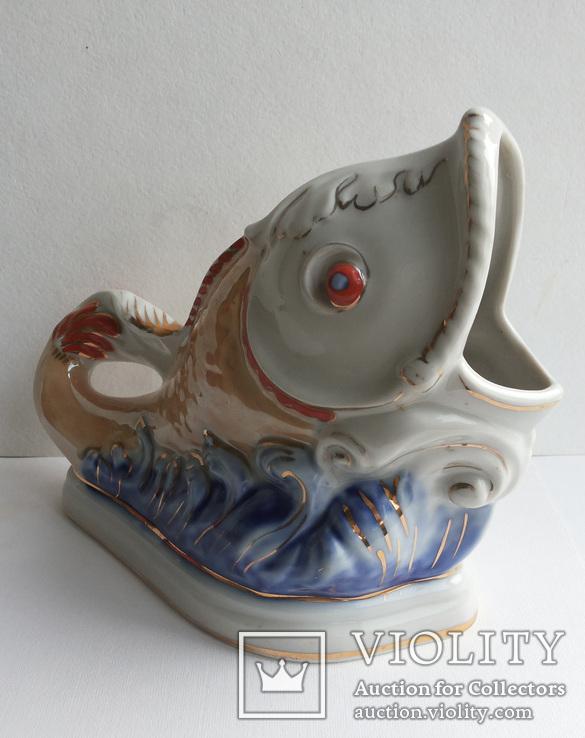 Салфетница Рыбка клеймо Коростень, фото №6