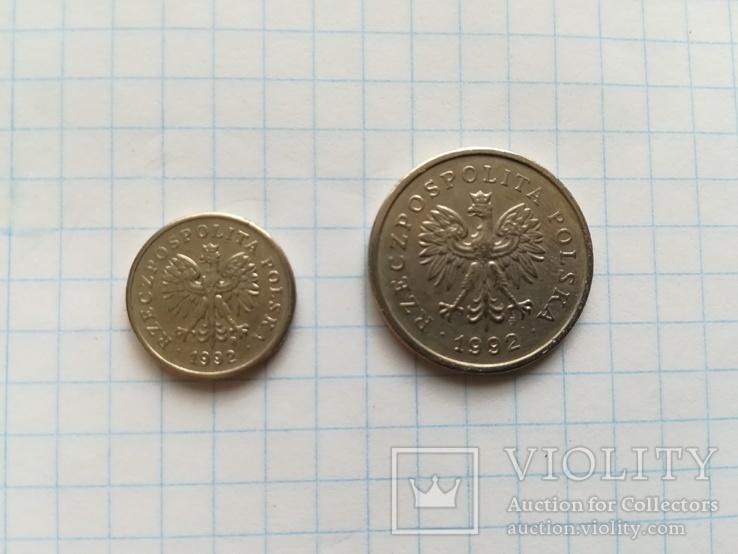 Монети 10 Грош і 1 злотий, фото №2