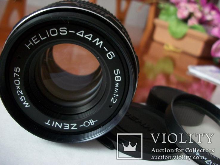 Объектив гелиос-44м-6, передняя-задняя крышки +уф-1х нов, фото №5
