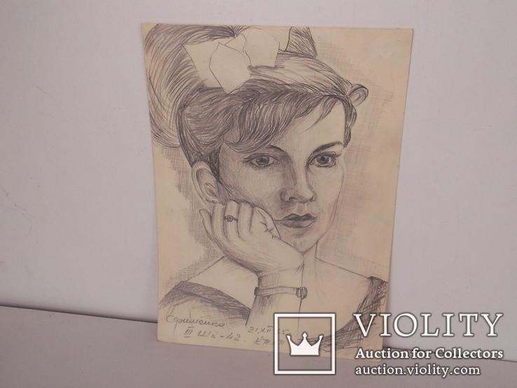 Работы студентов КТЛП  графика  Портрет1 1965 год