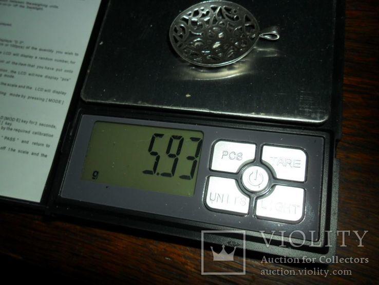 Кулон СССР 875 звезда 5,93 г, фото №6