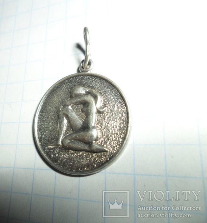 Кулон СССР 925 звезда 4,14 г.  дева, фото №3
