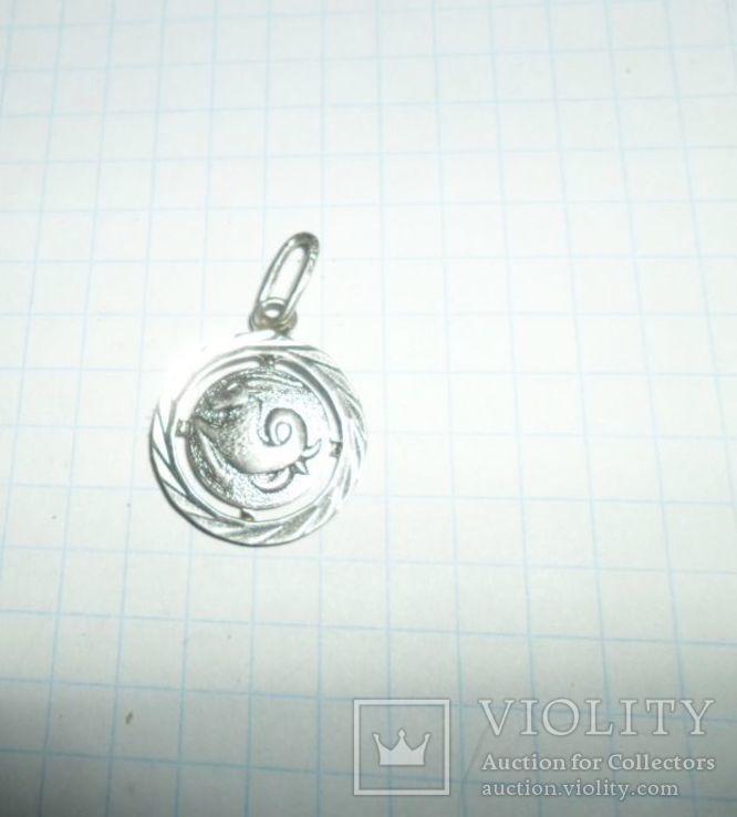 Кулон СССР 925 звезда 2,01 г козерог, фото №2