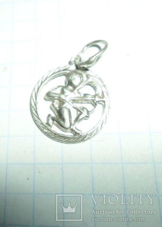 Кулон СССР 925 звезда 0,85 г стрелец, фото №2
