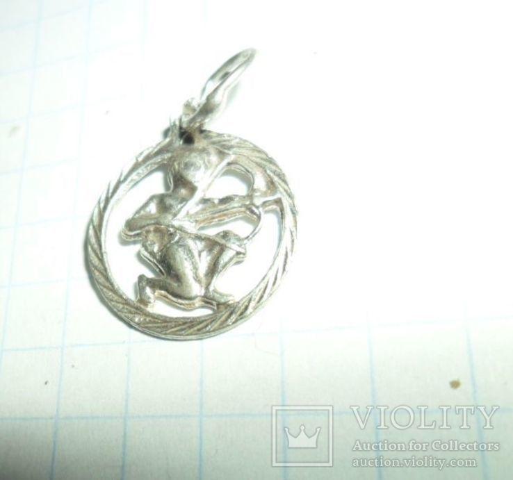 Кулон СССР 925 звезда 0,85 г стрелец, фото №3