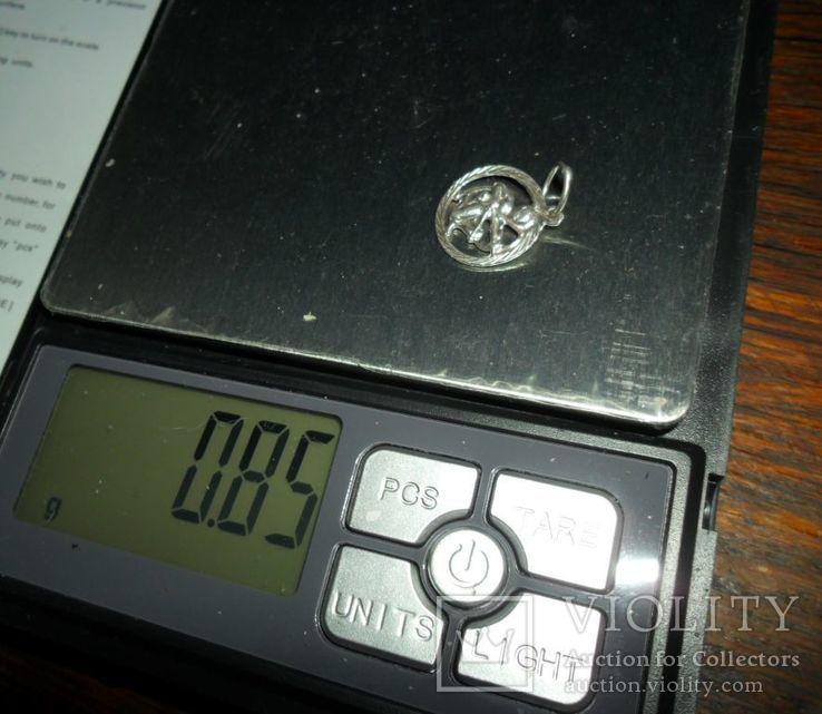 Кулон СССР 925 звезда 0,85 г стрелец, фото №5