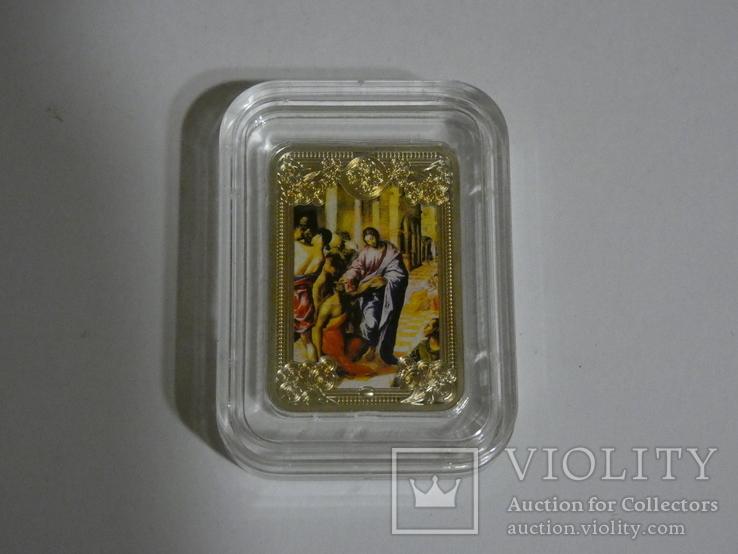 Чудеса Христовы - Исцеление слепого - серебро., фото №3