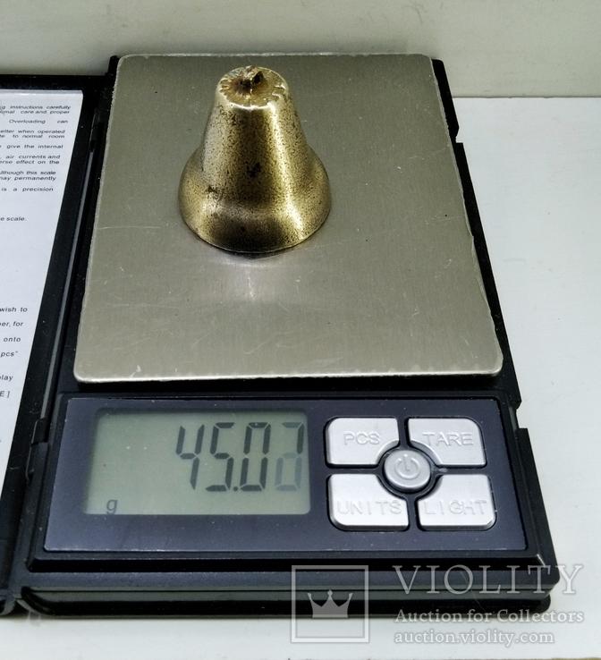 Старинный колокольчик бронза, клеймо сзга, фото №4