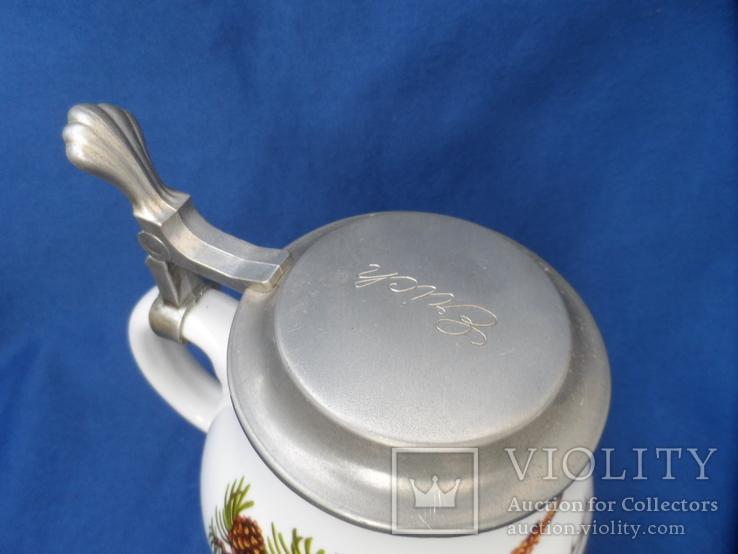 Коллекционная  пивная кружка  0,6 L Фарфор Европа, фото №5