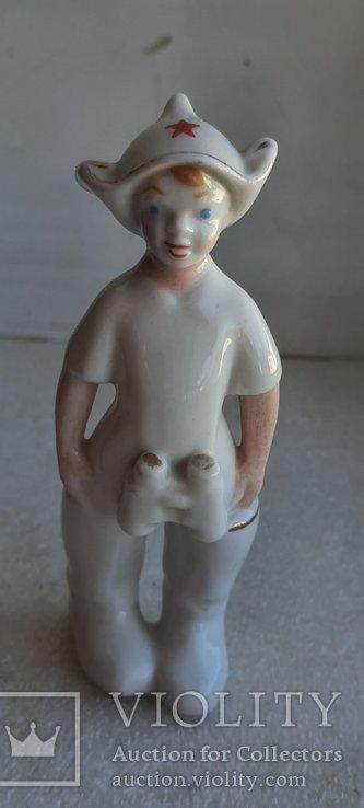 Статуэтка Буденовец с биноклем ЗХК Полонне, фото №9