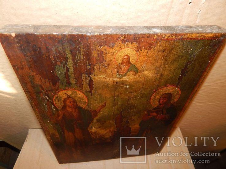 "Икона ""Иоанна Предтечи,Святой Анны,Иисуса Христа "" XIX в., фото №3"