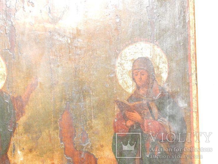 "Икона ""Иоанна Предтечи,Святой Анны,Иисуса Христа "" XIX в., фото №5"
