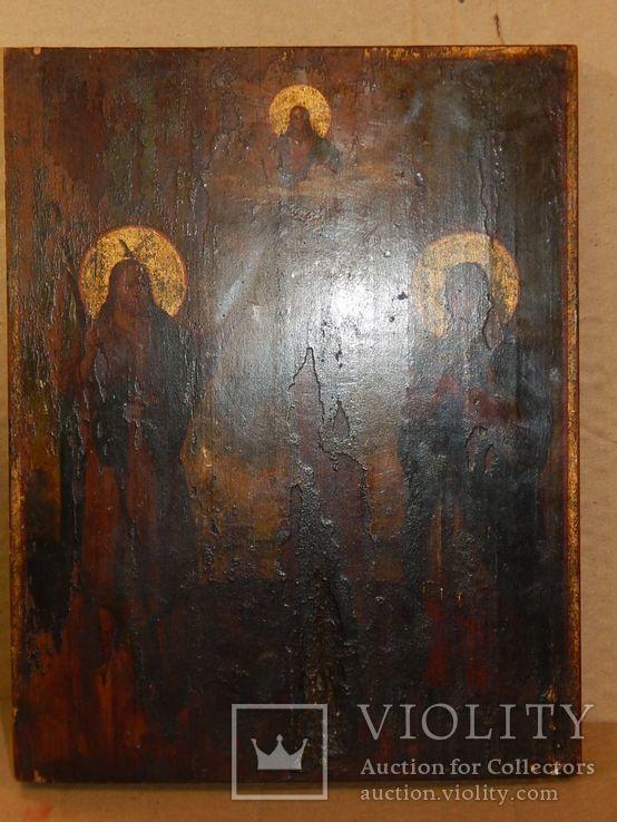 "Икона ""Иоанна Предтечи,Святой Анны,Иисуса Христа "" XIX в., фото №6"