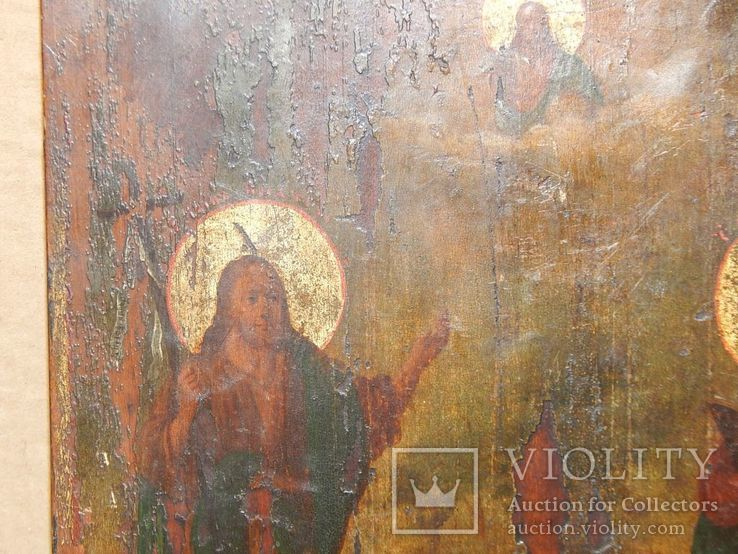 "Икона ""Иоанна Предтечи,Святой Анны,Иисуса Христа "" XIX в., фото №7"