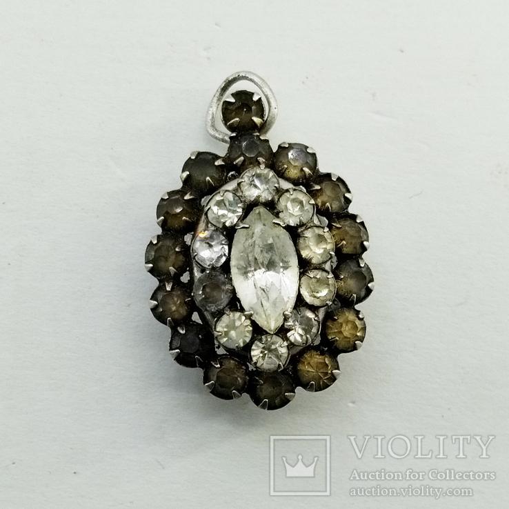 Серебренный кулон 5,34 грамм, двухсторонний с камнями., фото №2
