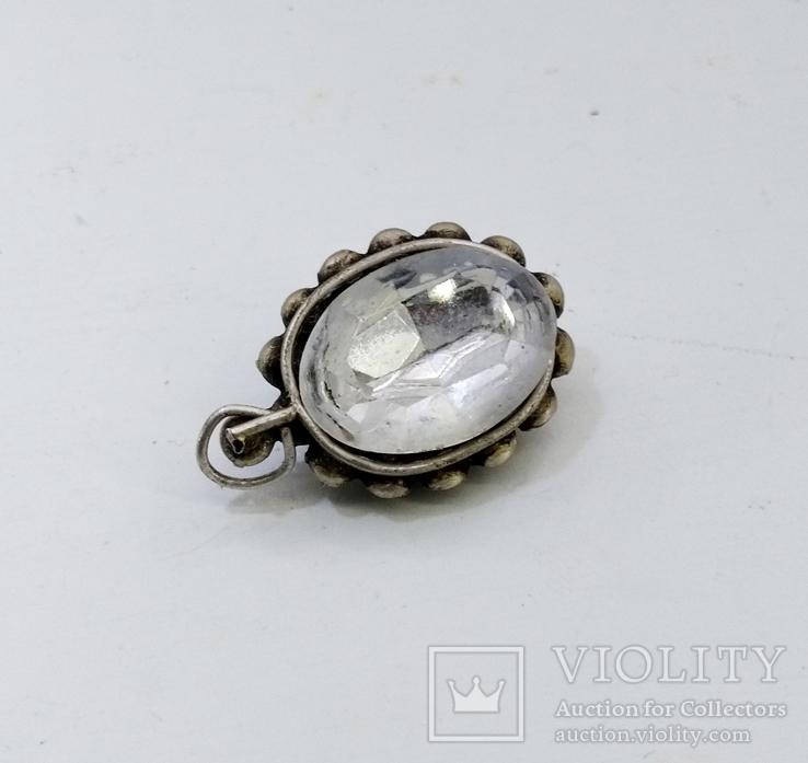 Серебренный кулон 5,34 грамм, двухсторонний с камнями., фото №3