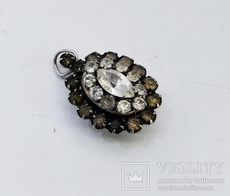 Серебренный кулон 5,34 грамм, двухсторонний с камнями., фото №4