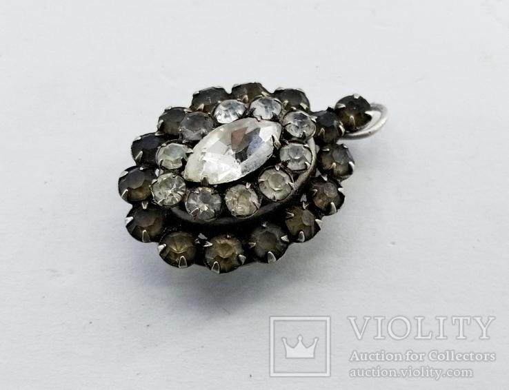 Серебренный кулон 5,34 грамм, двухсторонний с камнями., фото №5