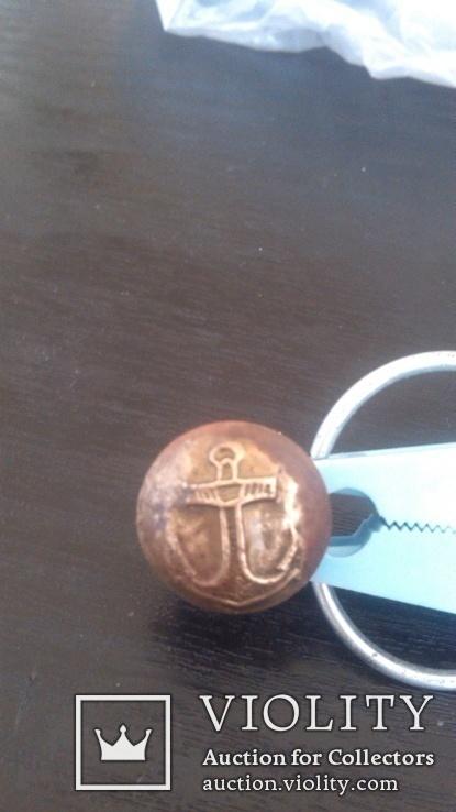 Пуговица моряка,позолота, фото №2