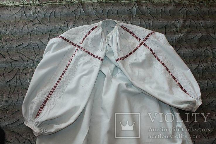 Сорочка старовинна, вишита сваргами, фото №3