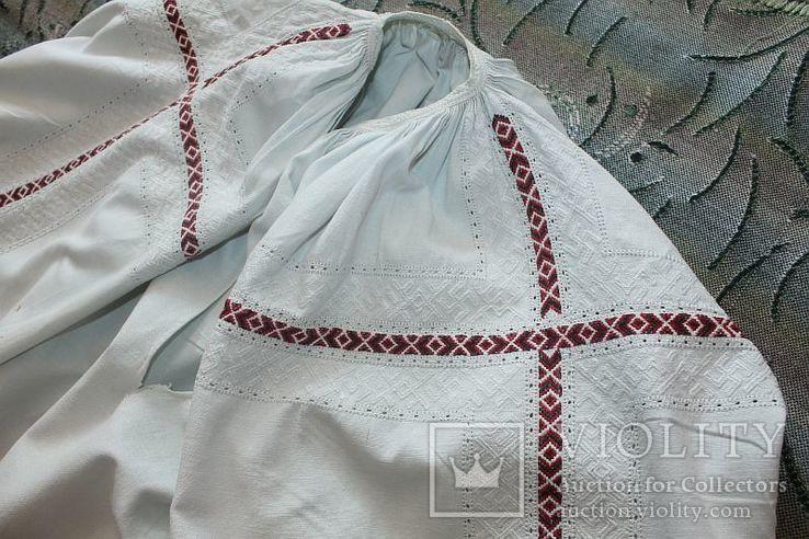 Сорочка старовинна, вишита сваргами, фото №5