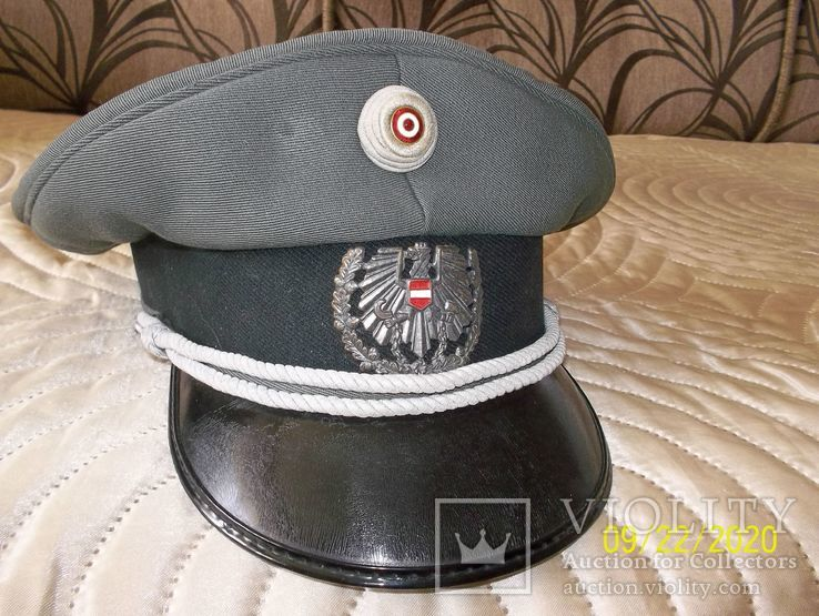 Фуражка  офицерская  австрийская  армия. раз. 58., фото №3
