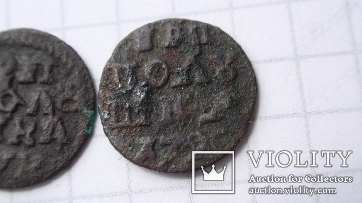 Полушки 1720 год  разные, фото №9
